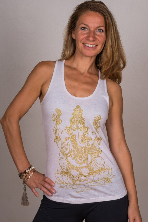 Top GANESHA creme/gold